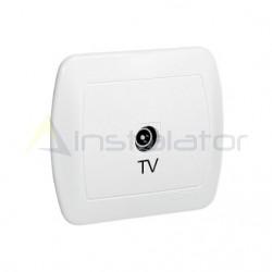 Gniazdo antenowe TV pojedyncze końcowe, białe SIMON AKORD