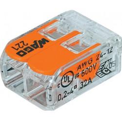 Szybkozłączka instalacyjna WAGO 221 podwójna uniwersalna