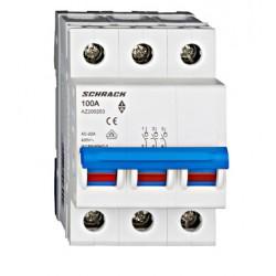 Rozłącznik izolacyjny trójpolowy SCHRACK 100A