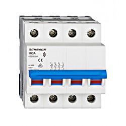 Rozłącznik izolacyjny czteropolowy SCHRACK 100A