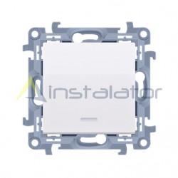 Łącznik jednobiegunowy biały/kremowy z podświetleniem LED SIMON 10