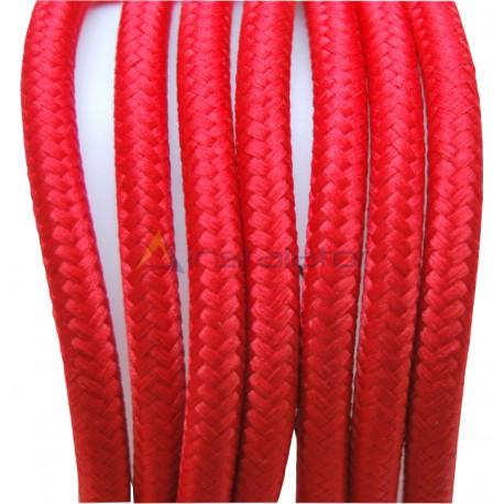 Przewód w kolorowym oplocie - czerwony